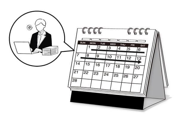 残業や休日出勤、有給休暇の消化