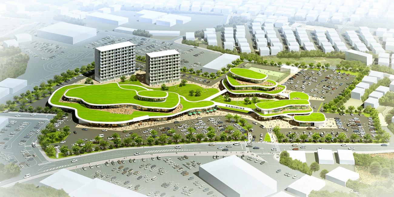 町の中心市街地の再開発におけるPPP・PFI手法の提案。大規模商業施設跡地を活用した官民連携の基本構想・基本計画の策定を実施。
