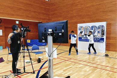 オンラインスポーツ教室開催風景